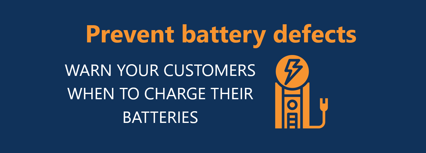 Prevent battery defects